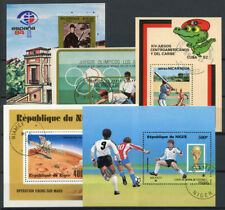 Nicaragua 1982-1984 SS 100% used Stamp Shows, Olympics, Sports