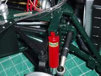NEW shock absorber decals for 1/8 scale DeAgostini E Type Jaguar partwork