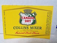 CANADA DRY COLLINS MIXER Label