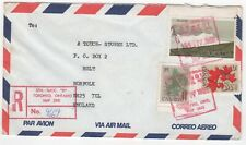 1982 CANADA Registered Air Mail Cover TORONTO to HOLT NORFOLK GB