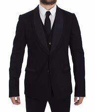 NWT $2700 DOLCE & GABBANA Black Torero Slim Fit Stretch Blazer Vest IT52/US42/XL