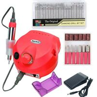 35000/20000RPM Electric Nail Drill Manicure Machine Set Mill Cutter Diamond Bits
