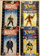 "LOT of (4) ""Toy Biz"" (2000,2002) 2 1/2"" Tall ""Marvel"" / ""X Men"" Die Cast Figures"