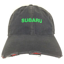 Subaru Hat Distressed Cap Logo Spell Out Embroidered SUV Cars Baseball Trucker