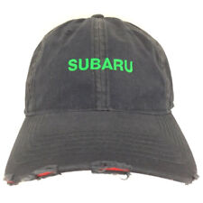 1ea5b684b6d Subaru Hat Distressed Cap Logo Spell Out Embroidered SUV Cars Baseball  Trucker