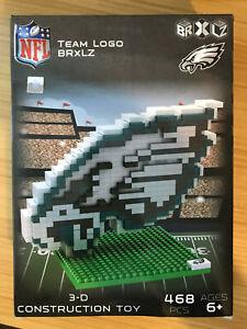 Philadelphia Eagles BRXLZ Team Logo 3-D Puzzle Construction Toy New - 468 Pieces