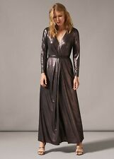 Phase Eight Joanne Rose Gold Wrap Maxi Dress - Size: 14