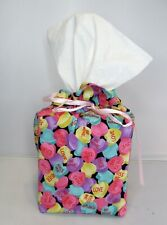 Valentine Heart Candy Fabric Tissue Box Cover Holder Valentine's Day Decor
