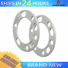 "2 Wheel Spacers 1/4"" Thick 5 6 lug 5x5.5"" 5x135 6x5.5"" 6x135 Universal Spacer"