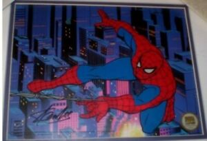 Framed & Matted Spiderman Sericel Autographed by Stan Lee