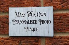 Your Own Words Personalised Wooden Plaque Sign Christmas Gift Idea
