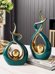 Ceramic Abstract Art Figurines Creative Nordic Ornaments Bookshelf Tv Cabinet