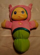 Playskool Hasbro 2011 Glow Worm Pink and Green Girl Globaby 10 Inch Guc Works