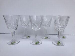 Waterford Crystal Lismore Wine Globet 7 oz Set of 6