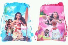 Lot of 12 Moana Cartoon Drawstring Bag party favor Small Reusable Backpack PINK