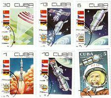 CUBA - Bustina 6 francobolli serie SPAZIO