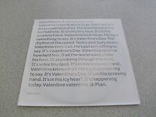 "David Bowie - Valentine´s Day // Plan - 7"" Vinyl Single"