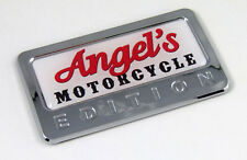 Angel's Motorcycle Edition Chrome Emblem with domed decal Car bike Badge