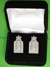 Jewish Chaplain's 10 Commandments Cuff Links in Gift Box - cufflinks
