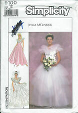 S 9100 sewing pattern Wedding DRESS sew Bride Bridesmaid GOWN Jessica McClintock