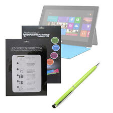 Custom Screen Protector For Microsoft Surface RT PLUS 2 Way Green Stylus & Pen
