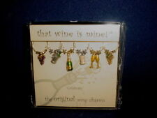 CELEBRATE Theme Wine Glass Charms Set of 6 Heavy-Weight by That Wine is Mine NEW
