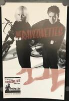 """The Raveonettes – Chain Gang Of Love 12"""" x 18"""" VG+ Poster 2003 Promo"""