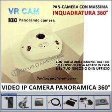 SPY CAM VIDEOCAMERA 360 DI SORVEGLIANZA PANORAMICA 3D VR IP CAMERA  WIFI