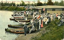 A Crowd by the Canoes, Shaker Lake, Cleveland OH 1912