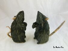Pottery Barn Large Sisal Rat Mice Set 2 Spooky Cute Classy Halloween Decor Lot 1