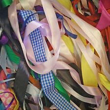 15 x 1 metre pieces of random assortment of ribbon satin grosgrain and organza