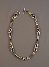 """VINTAGE HEAVY SOLID STERLING SILVER NECKLACE - MODERNIST MIDCENTURY MEXICAN 18"""""""