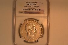 1883 Hawaii Dollar- NGC AU-50 Details. Cleaned.