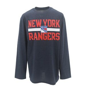 New York Rangers NHL Youth Size official Athletic Long Sleeve Shirt New