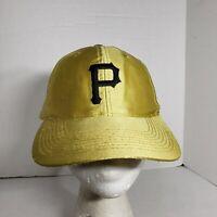 Vtg Gold Pittsburgh Pirates Hat SnapBack Ball Cap MLB Baseball