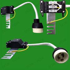 20x GU10 Ceramic Socket Lamp Holder Downlight Fitting Heat Sheath Bridge Bracket