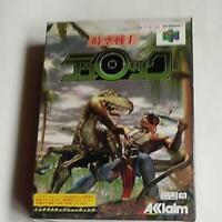 Space Time warrior Turok Nintendo 64 Japan Version New Unused