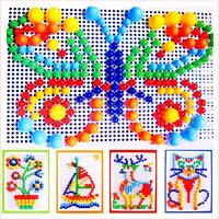Children Kids Puzzle Peg Board 296 Pegs Early Educational Toys Creative Gifts