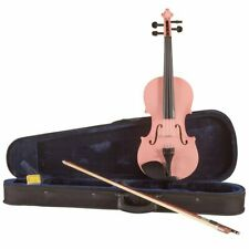 Koda Beginner Violin, 4/4 Size Fiddle, Comes with Case, Bow & Rosin - PINK