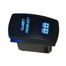 Car Off Road 12V 20A Toggle Rocker Switch Blue LED Work Light 5Pin ON OFF Sales