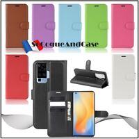 Coque Etui Housse Litchi Style Cuir PU Leather Wallet Case Cover VIVO X50 Pro