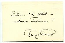 FRANZ SERVAES - orig. Autogramm - autograph, signed