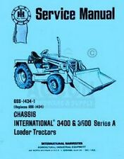 International 3400 A 3400A 3500 A 3500A 3514 Tractor Chassis Service Manual IH