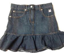 Gymboree Skirt Size 9 Denim Flair~Cat Embroidery~Adjustable Waist