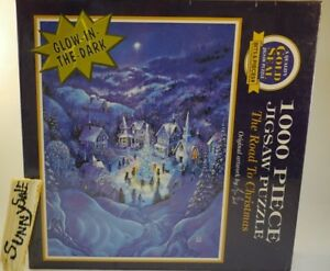 Christmas Glow-In-The-Dark Jigsaw Puzzle 1000 piece 1995 Bill Bell The Road To