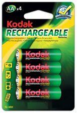 Kodak AA HiMh Rechargeable Batteries Four Pack 1700mAh