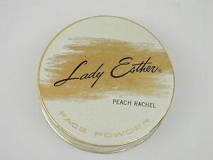 Vintage Lady Esther Peach Rachel Cardboard Powder Box 1950's