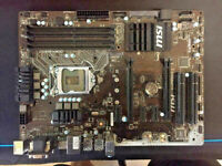 MSI B150 PC MATE Motherboard LGA 1151 socket [UNTESTED, AS IS]