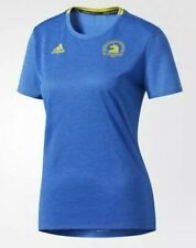 ADIDAS Womens Climalite Boston Marathon S/S Tee/T-Shirt Sz XL Royal Blue/Yellow