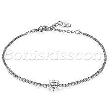 Women Charm Cubic Zirconia Bracelet Chain Link Wedding Anniversary Birthday Gift
